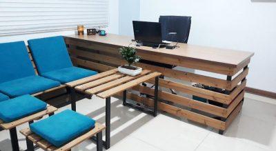 ساخت میز مدیریت با چوب ترمو