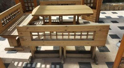 ساخت نیمکت با چوب ترمو