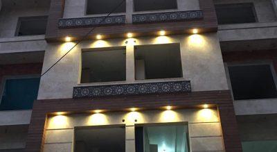 اجرای نمای ساختمان واقع در ساری