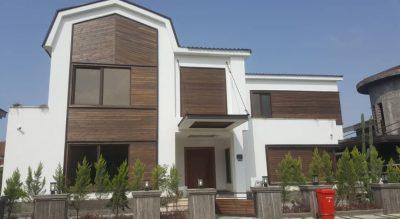نمای ساختمان با چوب ترمو